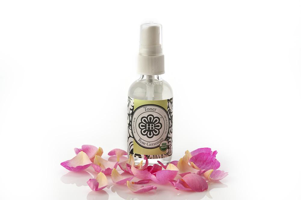 rose geranium toner for hair and face