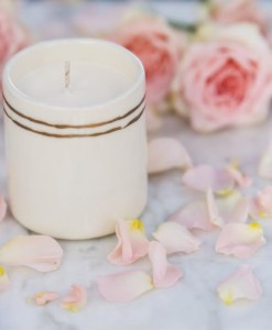 HollyBeth Organic white candle